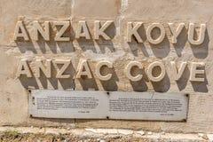 Бухта Anzac в Gallipoli на Canakkale Турции стоковое изображение rf