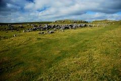 Бухта Malham в национальном парке участков земли Йоркшира Стоковое Изображение RF