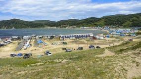 Бухточка на пляже Стоковое Фото