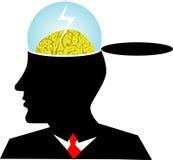бушевать мозга Стоковое фото RF