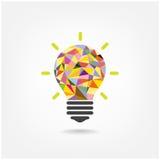 Бушель концепции красочной геометрической электрической лампочки творческий Стоковое Изображение RF