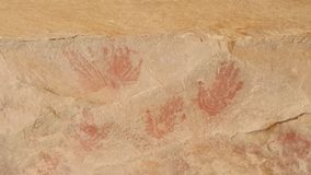 Бушмены, картина пещеры Стоковые Фотографии RF