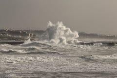 Бушуйте в море на рте реки Дуэро Стоковое фото RF