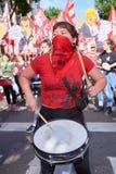 Буэнос-Айрес, c A B A , Аргентина - 30-ое ноября 2018: протест саммита g20, Буэнос-Айрес стоковое фото rf