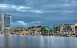 Буэнос-Айрес, Puerto Madero на ноче стоковое фото rf
