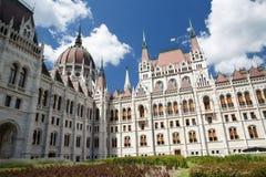 Будапешт, Венгрия Самое красивое здание парламента Стоковые Фото