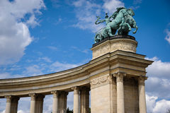 Будапешт, квадрат героев Стоковая Фотография