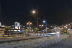 Будапешт на ноче, Венгрия Стоковое фото RF
