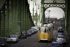 Будапешт столица Венгрии пересекла Дунаем Стоковое Изображение RF