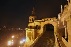 Будапешт - сцена ночи Стоковое Изображение RF