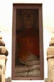 Будда в дверной раме Стоковое Фото