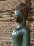 Будда в виске в Вьентьян Лаосе Стоковая Фотография
