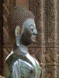 Будда в виске в Лаосе Стоковое Изображение