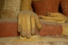 Будда в виске Bagan Стоковые Фото