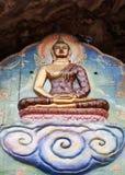 Будда в дожде Стоковые Фотографии RF