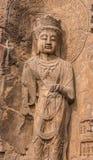 Будда в утесе Стоковое Изображение RF