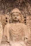 Будда в утесе Стоковые Фотографии RF
