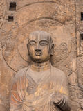 Будда в утесе Стоковая Фотография