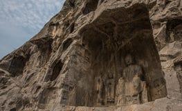 Будда в утесе Стоковое фото RF