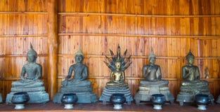 Будда на детали картины золота teak Стоковое фото RF