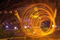 Будда на огне Стоковое фото RF