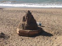 Будда на пляже Стоковые Фотографии RF