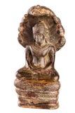 Будда под защитой короля NAG Mucalinda Стоковые Изображения RF