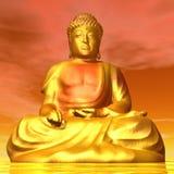 Будда - 3D представляют Стоковое Фото