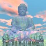 Будда - 3D представляют Стоковое фото RF