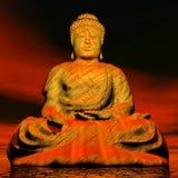 Будда - 3D представляют Стоковые Фотографии RF