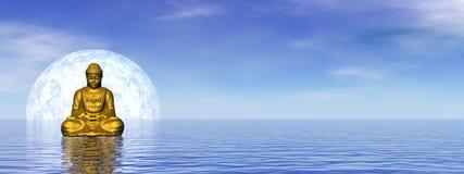 Будда - 3D представляют Стоковая Фотография RF