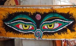 Будда eyes s стоковое изображение