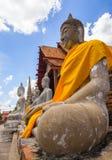 Будда Wat Yai Chai Mongkol Стоковая Фотография