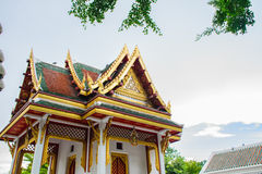 Буддийская архитектура павильона в Таиланде стоковое изображение