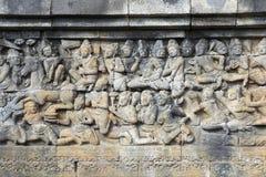 Буддийская деталь basrelif Стоковые Изображения