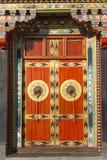 Буддийская monastry входная дверь стоковые фотографии rf