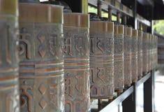 буддийские колеса молитве Стоковая Фотография RF