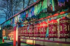 буддийские колеса молитве Стоковое фото RF