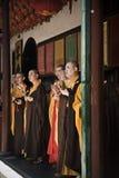 Буддийские монахи, Китай Стоковые Изображения RF
