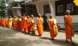буддийские монахи Стоковая Фотография RF