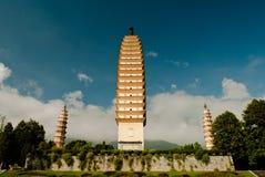 Буддийские пагоды в провинции Dali Юньнань Китая Стоковое фото RF