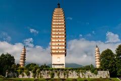 Буддийские пагоды в провинции Dali Юньнань Китая Стоковая Фотография