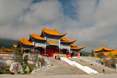 Буддийские пагоды в провинции Dali Юньнань Китая Стоковое Изображение RF