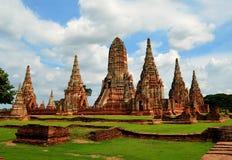 Буддийский висок в Ayutthaya (Таиланд) Стоковые Фото