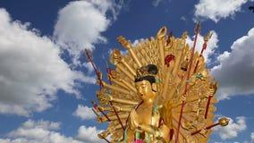 буддийский висок Золотая статуя Будды-- южный Xian Sian, XI `, провинция Шэньси, Китай видеоматериал