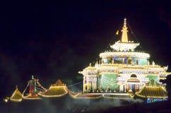 Буддийский висок к ноча Стоковые Изображения RF