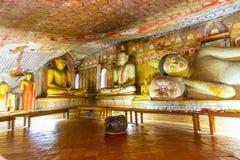 Буддийский висок пещеры, Dambulla, Шри-Ланка стоковое изображение rf
