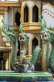 Буддийский висок под защитой Naga Стоковое Изображение RF