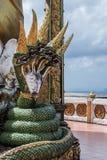 Буддийский висок под защитой Naga Стоковые Изображения RF
