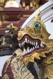 Буддийский висок под защитой Naga Стоковые Фотографии RF